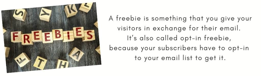 Use an opt-in freebie to encourage visitors to subscribe