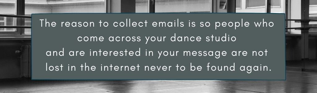 Email marketing for dance studios