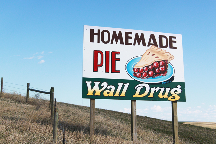 Wall Drug advertising sign
