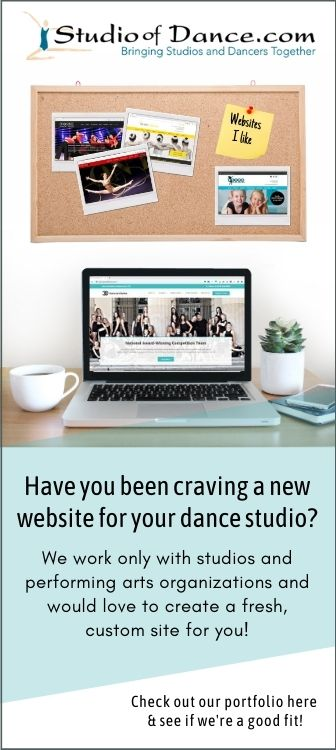 Websites for dance studios and performing arts organizations